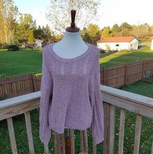 American Eagle Dusty Pink Knit Sweater